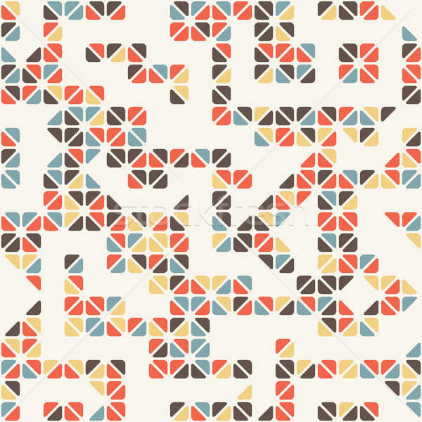 Seamless abstract  pattern of colored triangle Stock photo © Vanzyst