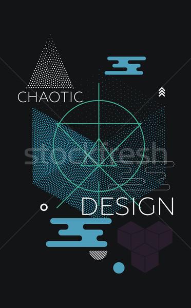 Caotico geometrica abstract set vibrante colori Foto d'archivio © Vanzyst