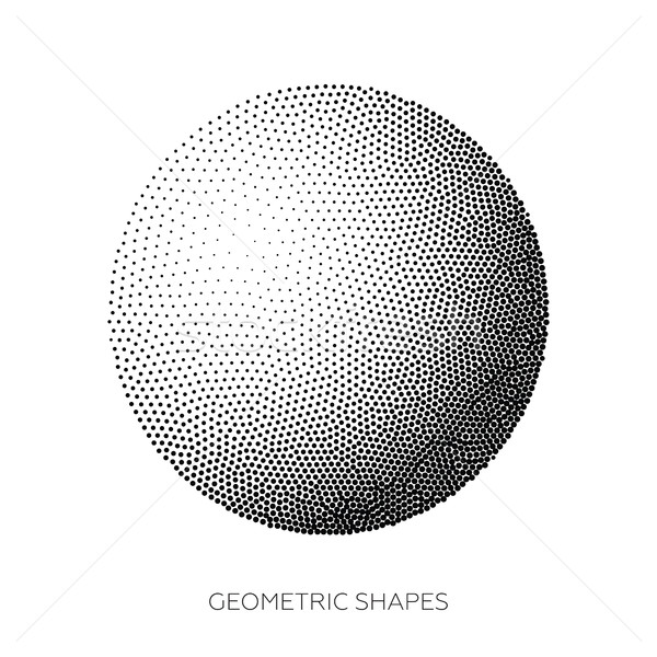 Three-dimensional geometric figures collected from points  Stock photo © Vanzyst