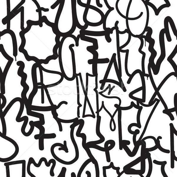 Divat graffiti kéz rajz textúra vektor Stock fotó © Vanzyst
