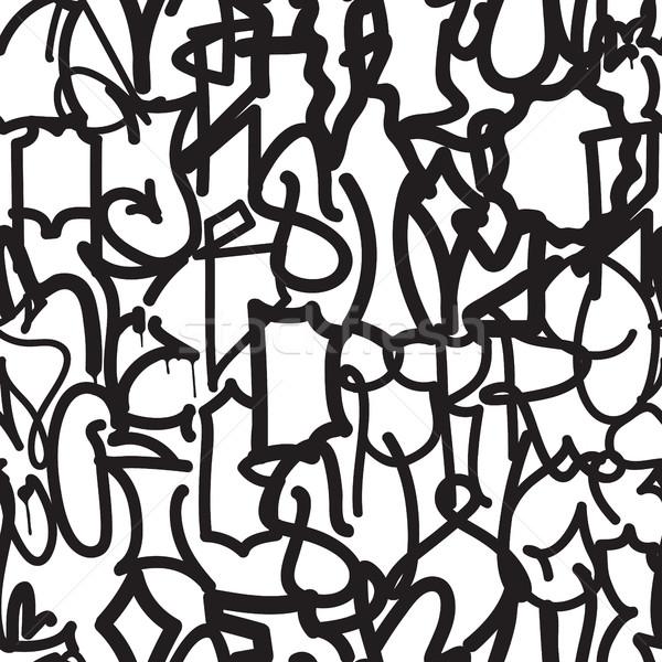 Fashion graffiti hand drawing texture Stock photo © Vanzyst