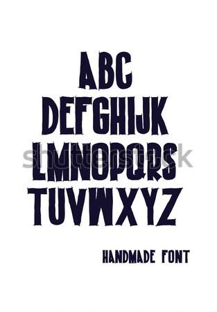 Композиции письма алфавит написанный рисованной Сток-фото © Vanzyst