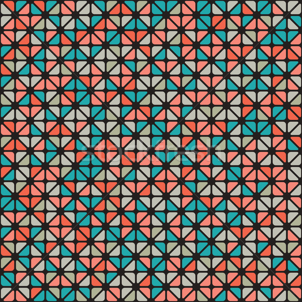 Seamless pattern of colored triangle Stock photo © Vanzyst