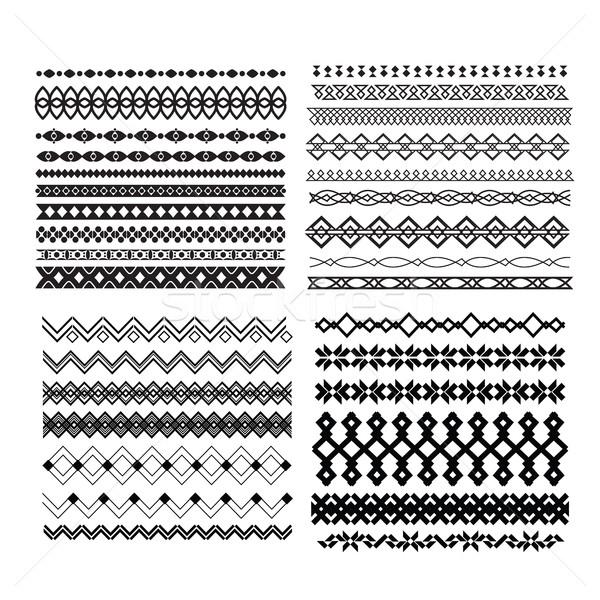 Ingesteld vector lijnen ontwerp meetkundig Stockfoto © Vanzyst