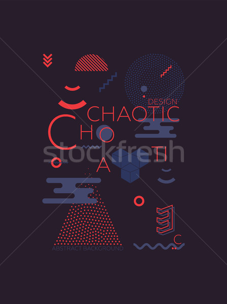 Chaotic Geometric Abstract Background Stock photo © Vanzyst