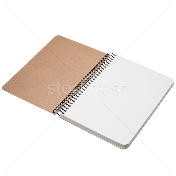 Сток-фото: ноутбук · изолированный · фото · рисунок · бизнеса · бумаги