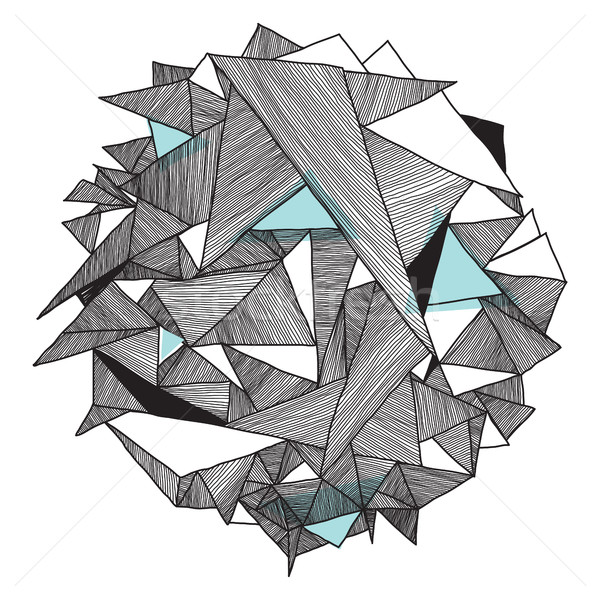 Grunge geometrisch patroon moderne abstract driehoek geometrie Stockfoto © Vanzyst