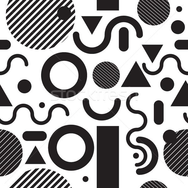 Moda nowoczesne proste geometryczny stylu Zdjęcia stock © Vanzyst