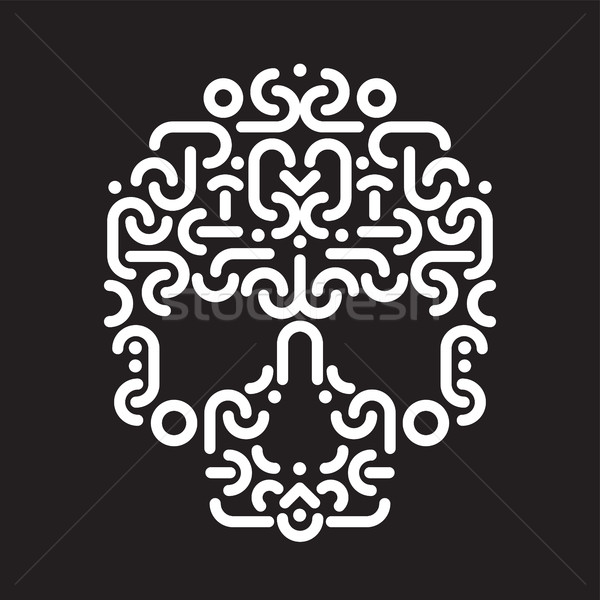Czaszki projektu proste geometryczny dekoracyjny Zdjęcia stock © Vanzyst
