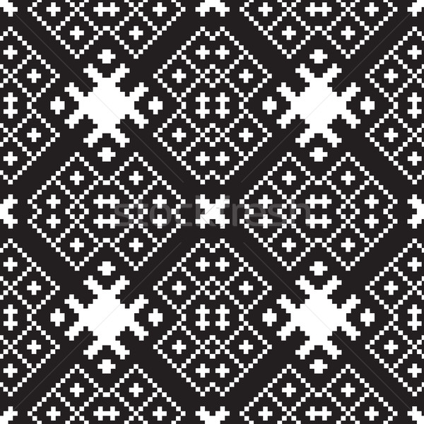 embroidery ethnic geometric seamless patterns  Stock photo © Vanzyst