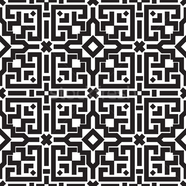 Abstract embroidery geometric seamless pattern Stock photo © Vanzyst