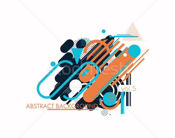 Geometry design elements Stock photo © Vanzyst