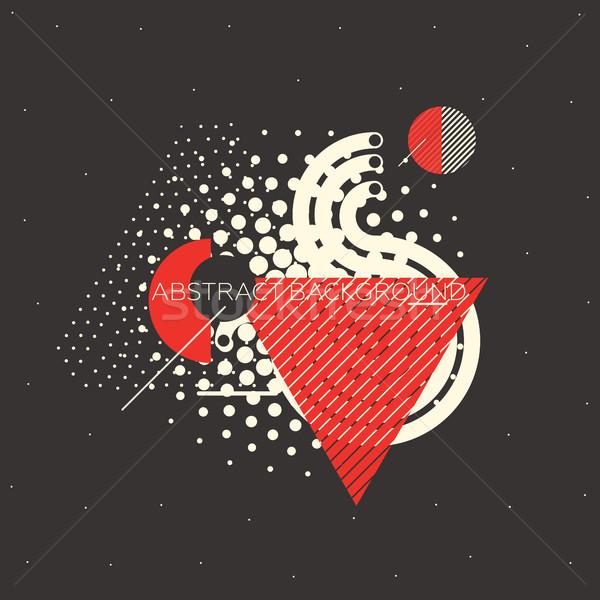 Proste streszczenie geometryczny chaotyczny równolegle linie Zdjęcia stock © Vanzyst