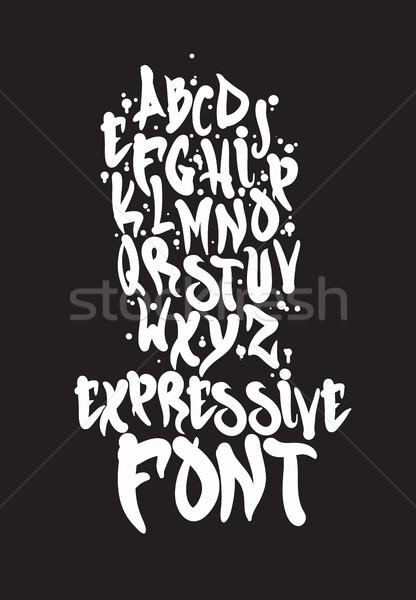 Foto d'archivio: Carattere · semplice · universale · mano · scritto · graffiti