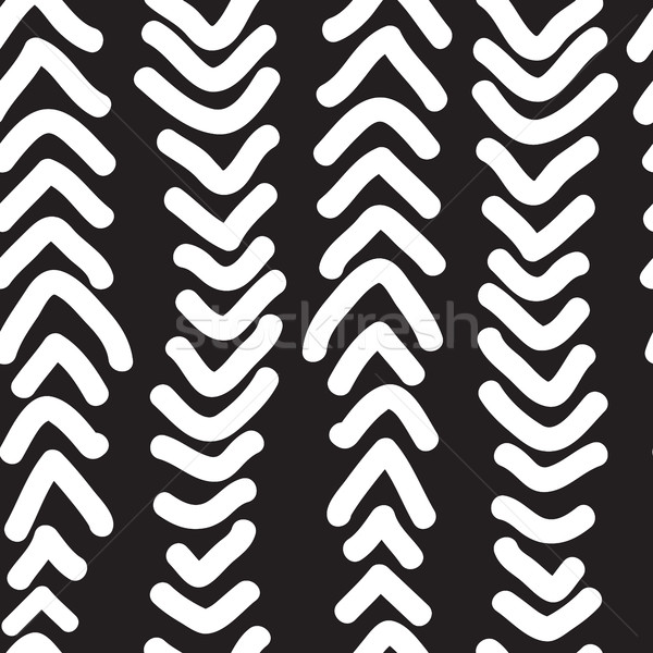 Seamless pattern with hand drawn vertical doodles line. Vector i Stock photo © Vanzyst