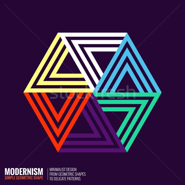 Minimalistic Geometric Design Stock photo © Vanzyst