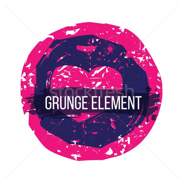 Streszczenie serca kolorowy grunge elementy Zdjęcia stock © Vanzyst