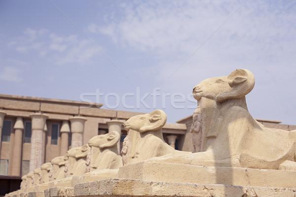 Avenue of the ram-headed Sphinxes Stock photo © Vanzyst