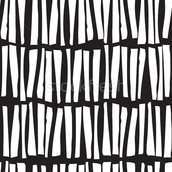 Seamless pattern with hand drawn vertical lines. Vector illustra Stock photo © Vanzyst