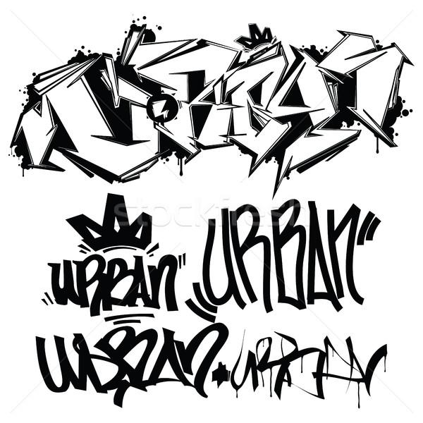 Vector graffiti schrijven stedelijke typografie Stockfoto © Vanzyst