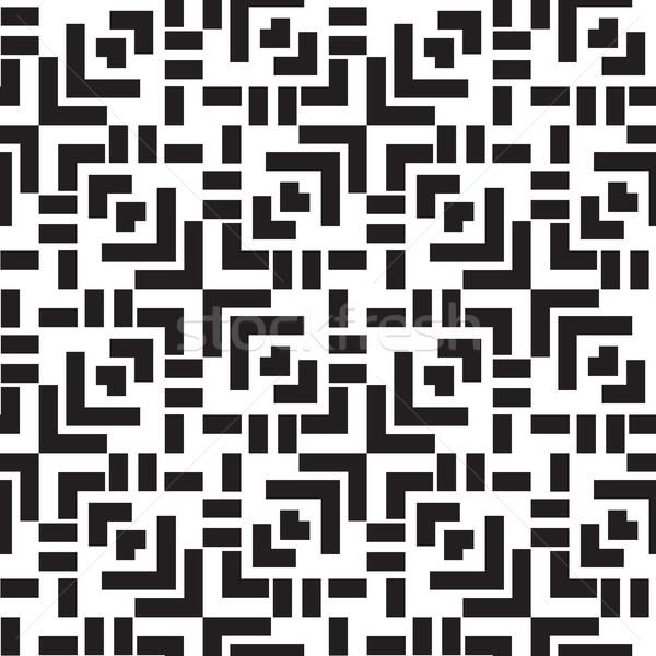 Absztrakt mértani végtelen minta modern elegáns papír Stock fotó © Vanzyst