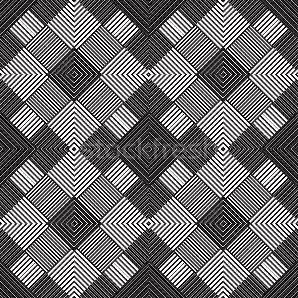 Stock photo: Abstract seamless pattern. Modern stylish texture geometric back