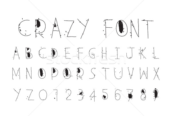 Careless funny letters, crazy font Stock photo © Vanzyst