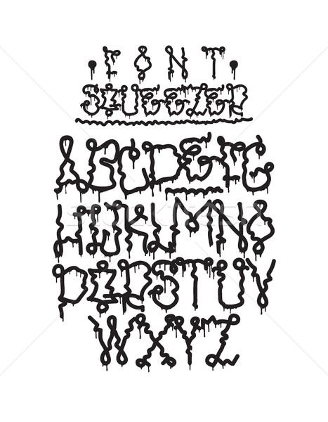 Graffiti font squeezer Stock photo © Vanzyst
