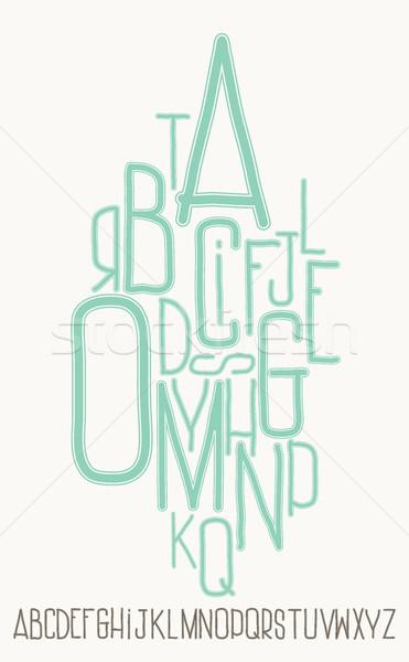 アルファベット 文字 白 背景 フレーム 芸術 ストックフォト © Vanzyst