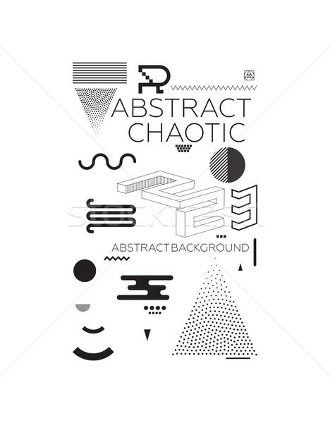 Foto stock: Caótico · abstrato · moderno · universal · simples · geométrico