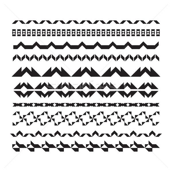 линия дизайна вектора горизонтальный геометрический Сток-фото © Vanzyst