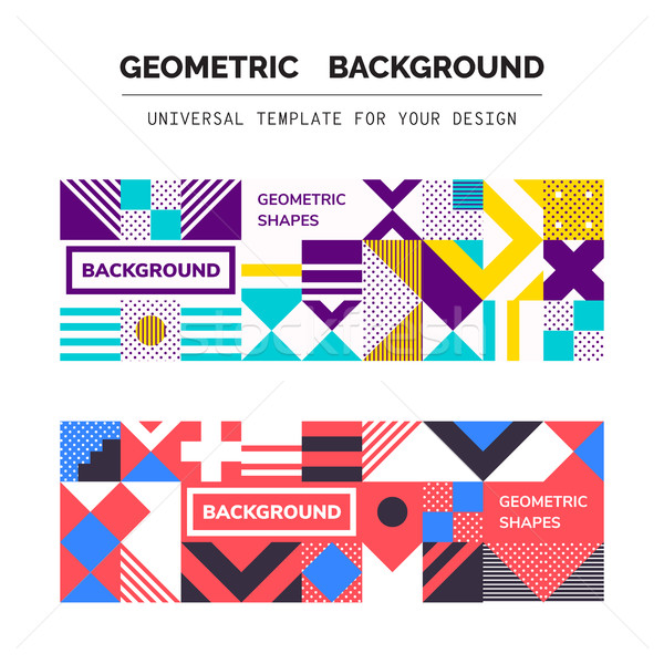 Abstract Geometric Backgrounds Stock photo © Vanzyst