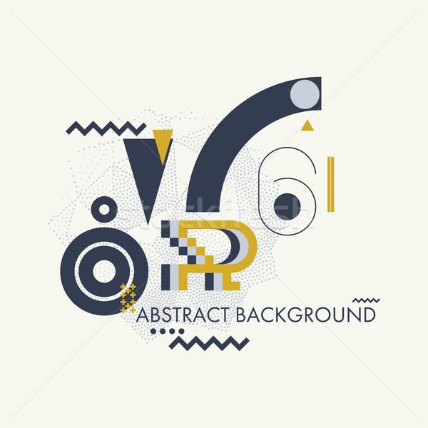 Simple geometric background Stock photo © Vanzyst