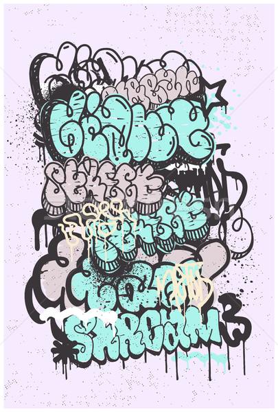 Graffiti Grunge Abstract Background Stock photo © Vanzyst