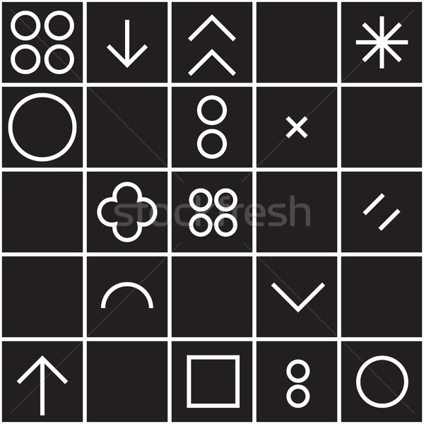 Geométrico formas vetor universal Foto stock © Vanzyst