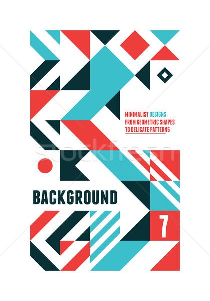 Abstract poster ontwerp meetkundig Stockfoto © Vanzyst