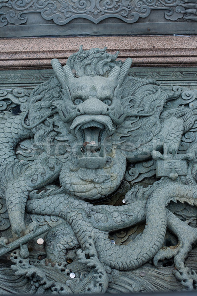 Ornamental sculpture dragon in Malaysia Stock photo © Vanzyst