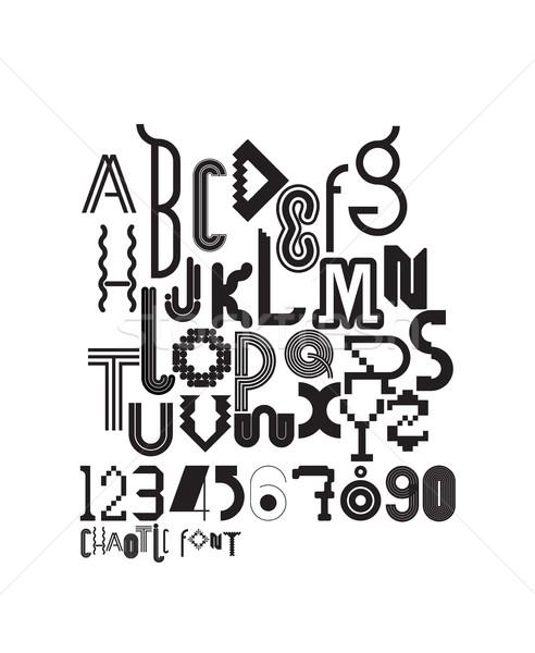 Foto d'archivio: Lavoro · carattere · decorativo · lettere · numeri · caotico