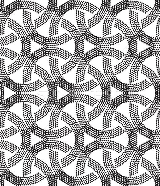 穿孔 ベクトル ユニバーサル 異なる 幾何学的な ストックフォト © Vanzyst