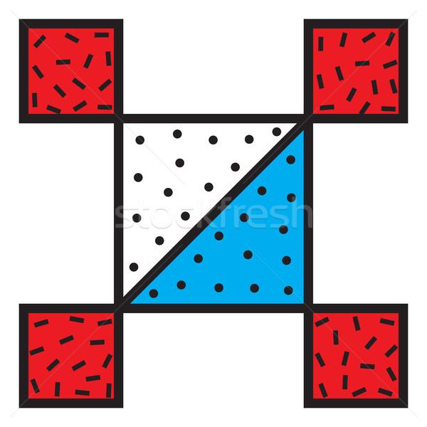 Stock fotó: Absztrakt · folt · vektor · matrica · 90-es · évek · 80-as · évek