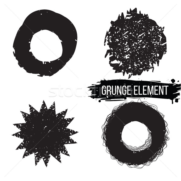 Set of grunge abstract elements.  Stock photo © Vanzyst