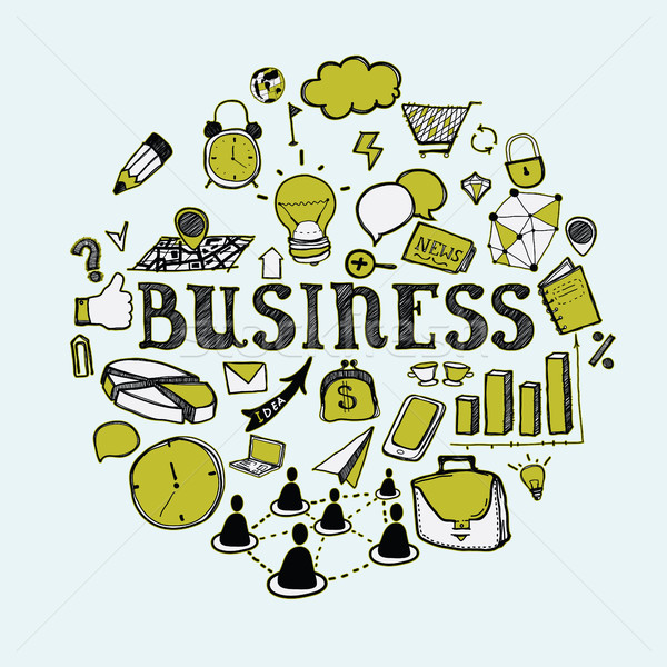 Set of primitive elements of the business Stock photo © Vanzyst