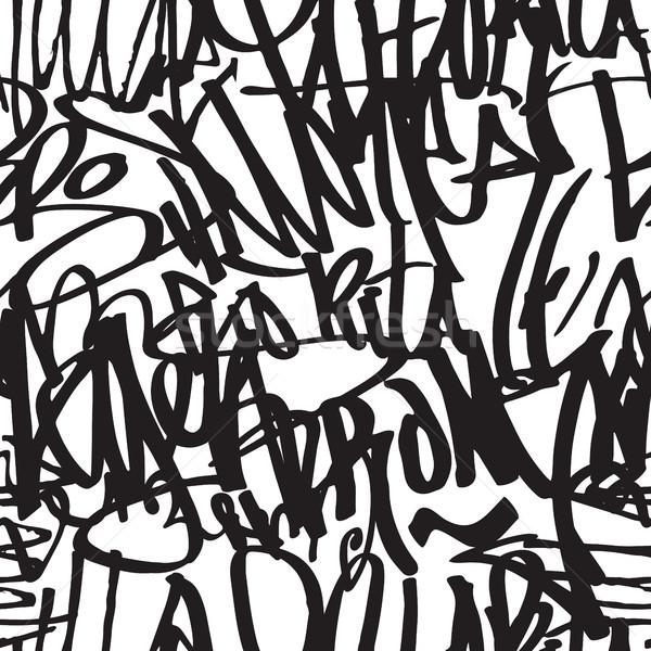 граффити вектора Дать стороны Сток-фото © Vanzyst