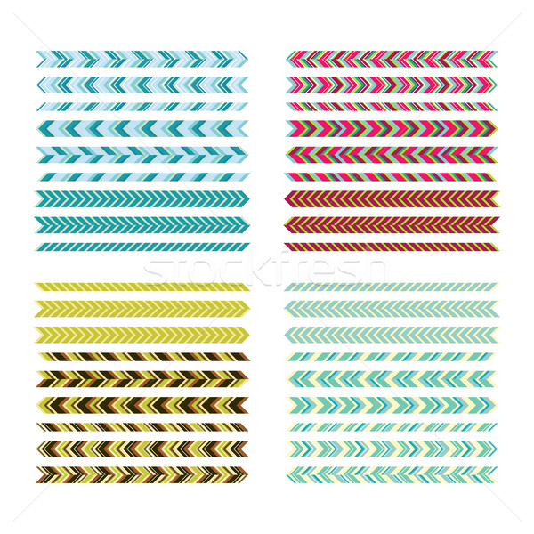 Underlines. Simple colour lines. Geometric decorative elements f Stock photo © Vanzyst
