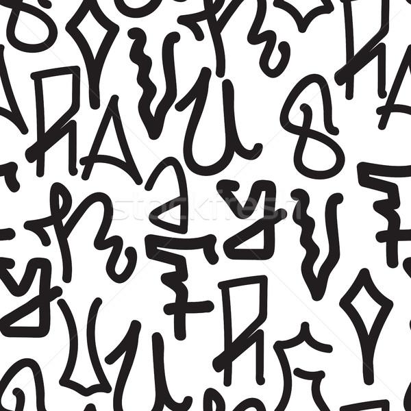 граффити шаблон вектора Дать Сток-фото © Vanzyst