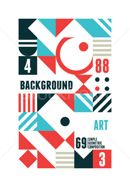 Soyut en az poster dizayn geometrik Stok fotoğraf © Vanzyst