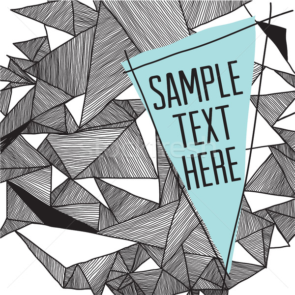 Geometric pattern modern background with place for your text. Gr Stock photo © Vanzyst