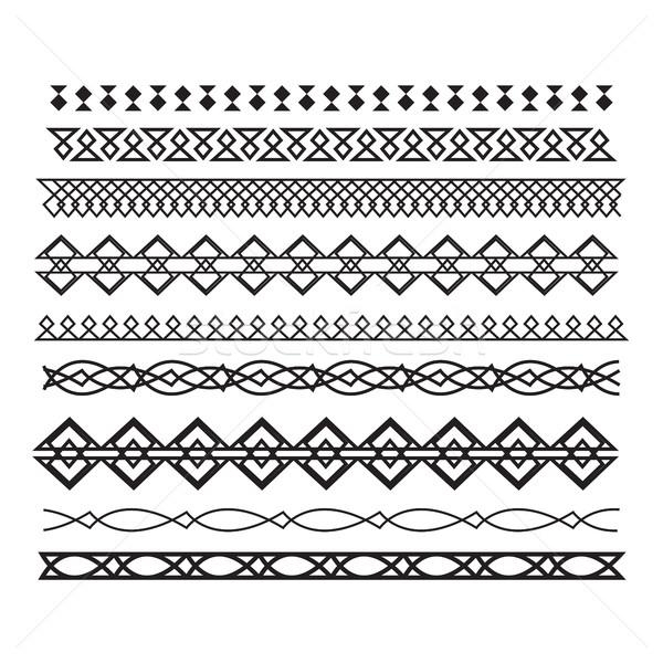 Zestaw wektora linie poziomy geometryczny Zdjęcia stock © Vanzyst