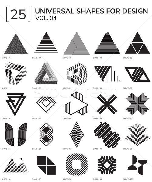 Meetkundig ingesteld 25 universeel ontwerp Stockfoto © Vanzyst