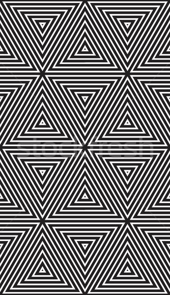Abstrato geométrico praça linhas simetria Foto stock © Vanzyst